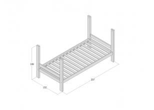 Bunk bed module 90x200 JERWEN