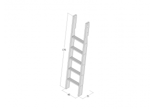 Ladder for bunk bed / high bed JERWEN