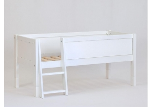 Cabin bed with safety barrier and ladder 90x200 JERWEN