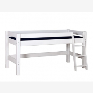Semi High Children´s Bed LAHE, white