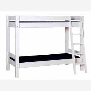 Bunk bed slant ladder LAHE, 90x200, white