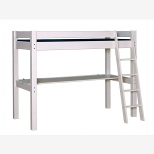 Highbed LAHE 90x200, slant ladder and tabletop