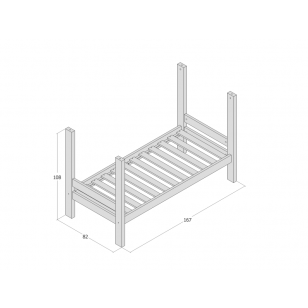 Bunk bed module 70x160 JERWEN