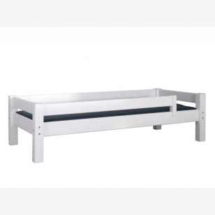 Divan bed with safety barrier 90x200 LAHE white