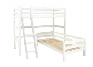 PREMIUM Bunk bed Angle 90x200cm with slant ladder - white