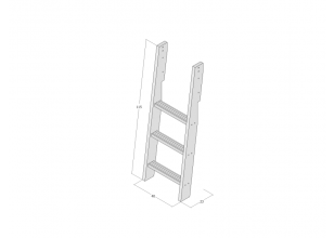 Ladder for mid-high bed JERWEN