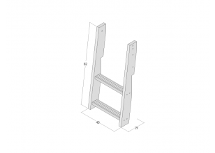 Ladder for cabin bed JERWEN