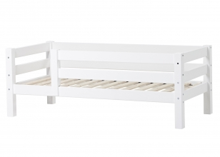PREMIUM Junior bed with 3/4 safety rail 70x160 cm - white