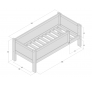 Divan bed with safety barrier 70x160 JERWEN