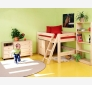 Semi High Children´s Bed LAHE, natural lacquer